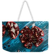 Pomegranate Weekender Tote Bag by Nailia Schwarz