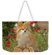 Pomeranian Dog Weekender Tote Bag
