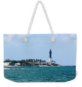 Pompano And The Hillsboro Inlet Lighthouse Weekender Tote Bag