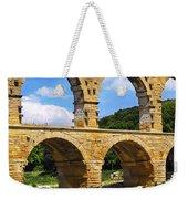 Pont Du Gard In Southern France Weekender Tote Bag