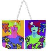 Pop Art Girl Weekender Tote Bag