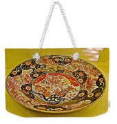Porcelain Dish In Topkapi Palace In Istanbul-turkey  Weekender Tote Bag