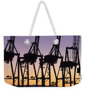 Port Of Seattle Cranes Silhouetted Weekender Tote Bag