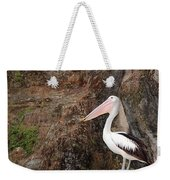 Portrait Of An Australian Pelican Weekender Tote Bag