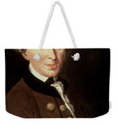Portrait Of Emmanuel Kant Weekender Tote Bag