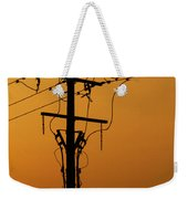 Power Line Sunset Weekender Tote Bag