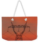 Power Lines Just After Sunset Weekender Tote Bag