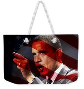 President Barack Obama Weekender Tote Bag by Marvin Blaine