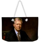 President Jimmy Carter Painting Weekender Tote Bag
