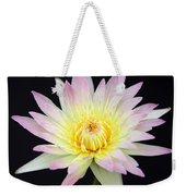 Pretty Pink And Yellow Water Lily Weekender Tote Bag