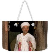 Priest At Ancient Rock Hewn Churches Of Lalibela Ethiopia Weekender Tote Bag