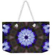 Purple Iris Kaleidoscope Weekender Tote Bag