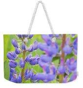 Purple Lupine Flowers Weekender Tote Bag