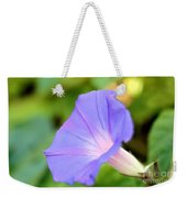 Purple Morning Glory Weekender Tote Bag
