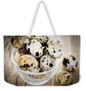 Quail Eggs Weekender Tote Bag