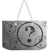 Question Mark Background Bw Weekender Tote Bag
