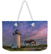 Race Point Lighthouse Sunset Weekender Tote Bag