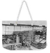 Railroading Construction Weekender Tote Bag