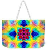 Rainbow Light Mandala Weekender Tote Bag