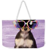 Rainbow Sunglasses Weekender Tote Bag by Greg Cuddiford
