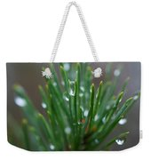 Raindrops On Pine Weekender Tote Bag