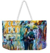 Rainy Date Weekender Tote Bag