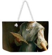 Reading The Letter Weekender Tote Bag