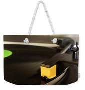Record Player Weekender Tote Bag by Les Cunliffe