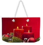 Red Advent Wreath With Candles Weekender Tote Bag