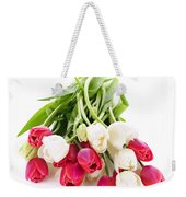 Red And White Tulips Weekender Tote Bag by Elena Elisseeva