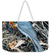 Red-faced Warbler At Nest With Young Weekender Tote Bag
