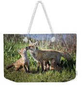 Red Fox Family Weekender Tote Bag