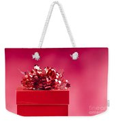 Red Gift Box Weekender Tote Bag