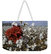Red In The Cotton  Weekender Tote Bag