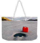 Red Jerrycan Lost On Frozen Lake Laberge Yukon T Weekender Tote Bag