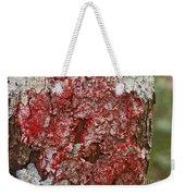 Red Lichen  Weekender Tote Bag