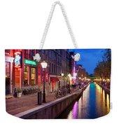 Red Light District In Amsterdam Weekender Tote Bag
