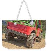 Red Off Road Car  Weekender Tote Bag