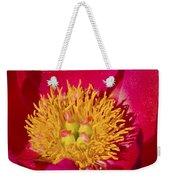 Red Peony Flower Weekender Tote Bag