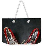 Red Shoes Weekender Tote Bag by Joana Kruse