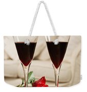 Red Wine And Roses Weekender Tote Bag