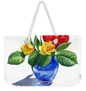 Red Yellow And Blue Weekender Tote Bag