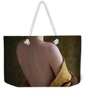 Redhead Woman Removing A Ballgown Weekender Tote Bag