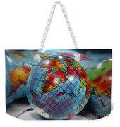 Reflected Globe Weekender Tote Bag