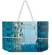 Reflections In Modern Glass-walled Building Facade Weekender Tote Bag