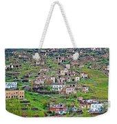 Residents Moved From Homes In Cliffs To Homes Below In 1951 In Cappadocia-turkey Weekender Tote Bag
