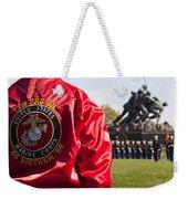 Retired Marine Paying Respect Weekender Tote Bag