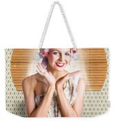Retro Woman At Beauty Salon Getting New Hair Style Weekender Tote Bag