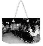 Reverse Angle Interior Cabinet Saloon 68 W. Congress Tucson Arizona 1910 Weekender Tote Bag