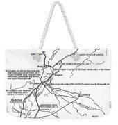 Revolutionary War Plan Weekender Tote Bag
